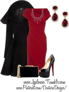 """""""Couture Chic Designs -Valentines Day"""" by jgalonso on Polyvore.  This is totally beautiful and looks like something Irene Adler would wear."""