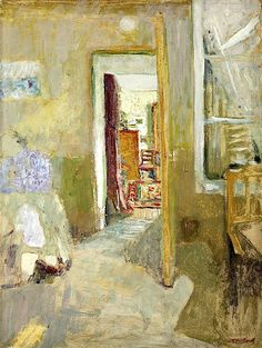 ◇ Artful Interiors ◇ paintings of beautiful rooms - Edouard Vuillard | La porte ouverte