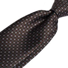 Another Berg & Berg tie, in brown and printed pattern.