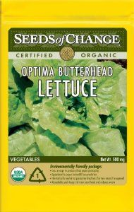Seeds of Change S21611 Certified Organic Optima Green Butter Lettuce by Seeds of Change. $4.99. 100-Percent certified organic seeds grown in the USA for over 20-year. Independently tested for high germination rates and purity and meets or exceeds federal standards. Hermetically sealed package that is re-sealable gives longer life and higher germination rates. Seeds of change contributes 1-percent of net sales to advance the cause of sustainable organic agriculture worldwid...