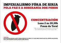 Imperialismo fóra de Siria. Concentración en Compostela o luns 2 de setembro ás 20.30h na Praza do Toral