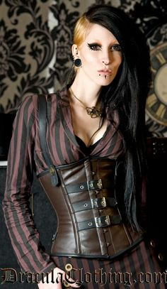 This original corset looks amazing worn with both a skirt and pants efd9f79a21e