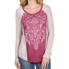Shyanne® Women's Studded Filigree Long Sleeve Shirt