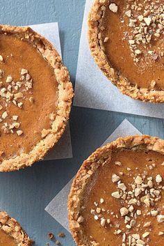 Spiced Pumpkin Pie With Hazelnut Praline Recipe — Dishmaps