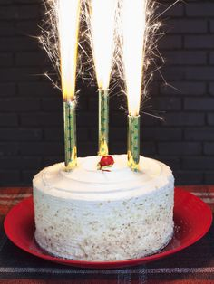 Festive Cake Sparklers - Simply Chic Fourth of July Entertaining Ideas on HGTV