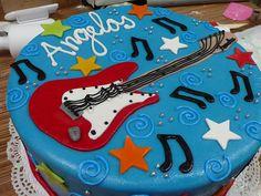 Teen Boy Cakes | Fender Stratocraster Guitar Cake 2 | Flickr - Photo Sharing!