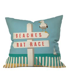 This Anderson Design Group Signpost Fleece Throw Pillow is perfect! #zulilyfinds