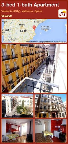 3-bed 1-bath Apartment in Valencia (City), Valencia, Spain ►€59,000 #PropertyForSaleInSpain