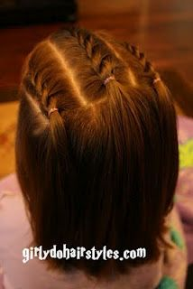 Girly Do's By Jenn: Messy Buns and more easy? little girls hair styles