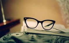 Throwback with an elegant pair of vintage specs.
