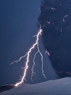 size: Photographic Print: Volcanic Lightning, Iceland, April 2010 by Olivier Vandeginste : Decorating Styles Fantasy Art Landscapes, Fantasy Landscape, Beach Landscape, Framed Artwork, Framed Prints, Library Images, Science Photos, Wild Nature, Ways Of Seeing