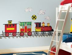 Choo-Choo Train Wall Decals for Train-Themed Baby and Toddler Rooms