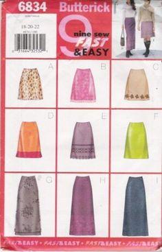 Butterick 6834 - Skirt Pattern