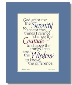 Serenity Prayer Photo: This Photo was uploaded by babygyrlktm. Find other Serenity Prayer pictures and photos or upload your own with Photobucket free i. Aa Quotes, Quotable Quotes, Great Quotes, Quotes To Live By, Life Quotes, Inspirational Quotes, Prayer Quotes, Inspire Quotes, Awesome Quotes