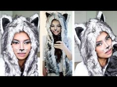 Sassy Cat Halloween Makeup Tutorial - by Nee (Bebexo) Cat Halloween Makeup, Cat Makeup, Fall Halloween, Halloween Ideas, Halloween Costumes, Wolf Face, Makeup Tutorials Youtube, Makeup Videos, Face Art