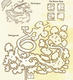 The Broken Keep map Tabletop Rpg, Tabletop Games, D20 Modern, My Settings, Game Ui Design, Dungeon Maps, Fantasy Map, Playing Games, Pen And Paper