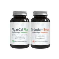 Increase Your Bone Density, Guaranteed! It takes just 6 Months with our BONE BUILDER PACKS (AlgaeCal Plus and Strontium Boost). Discover more now!