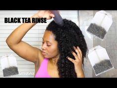 Black Tea Rinse for Shedding Hair & Breakage - YouTube