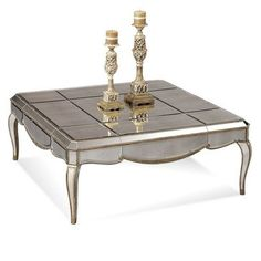 Why not bring the mirror in your room to your cocktail table?