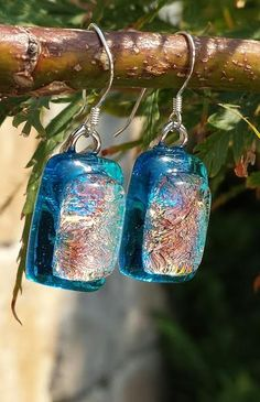 dichroic Fused Glass Jewelry, Wind Chimes, Microwave, Christmas Ornaments, Holiday Decor, Outdoor Decor, Ideas, Xmas Ornaments, Microwave Oven