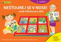 Nešťourej se v nose! Manners, Games For Kids, Monopoly, Board Games, This Or That Questions, Children, Cards, Literatura, Bebe