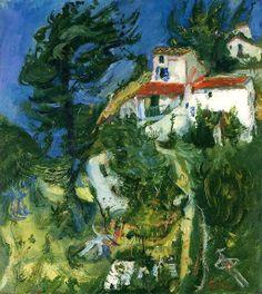 Chaim Soutine. Landscape of Cagnes, circa 1924