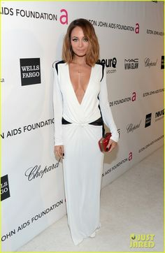 black and white dress Nicole Richie