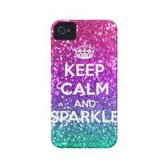 Keep Calm and Sparkle Glitter LookLike Rainbow Iphone 4 Case-mate... ($50) ❤ liked on Polyvore featuring accessories and tech accessories