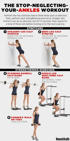 Straight-Leg Calf Stretch http://www.womenshealthmag.com/fitness/strong-ankle-workout