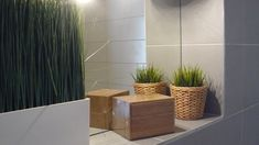 Grey and green bathroom Bratislava, Bathrooms, Planter Pots, Grey, House, Gray, Bathroom, Home, Full Bath