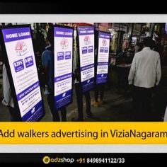 look walkers,ad walkers,I walkers, adzshop innovative advertisement in viziaNagaram,Andhra pradesh.