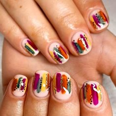Abstract Nail Design For Autumn Fall Nail Art Designs Youll Love See Best Picture For nails fall acr Fall Nail Art Designs, Halloween Nail Designs, Cute Simple Nail Designs, Halloween Nails, Fall Acrylic Nails, Autumn Nails, Fall Nail Art Autumn, Subtle Nail Art, Simple Fall Nails