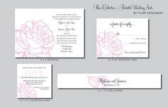 Rose Collection  Printable Wedding Invitation by FlairDesigneryLLC,