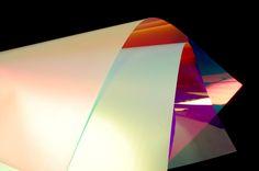 Materia - Material - Chameleon Satin Dichroic Film - Image-6 Installation Art, Art Installations, Hippy Bedroom, Sandblasted Glass, Touch Lamp, Film Images, Light Project, Glass Film, Chameleon