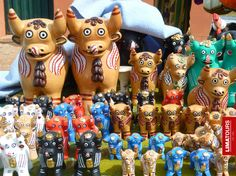"Peruvian #handicrafts known as ""toritos de pucara"" found in #Sillustani, #Puno - #Peru."