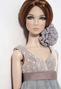 Beautiful doll, all in gray, by Peewee Parker.