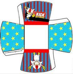 Kick Buttowski: Cajas para imprimir gratis.