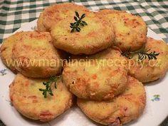 Placičky z bramborové kaše Potato Dishes, Gnocchi, Bon Appetit, Baked Potato, Muffin, Food And Drink, Appetizers, Potatoes, Sweets