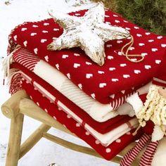 Foxford Red Lambswool Blanket | Irish Made Gift from Ireland