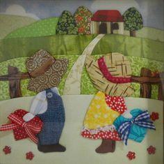 My Sunbonnet girls. Hand Applique, Applique Patterns, Applique Quilts, Applique Designs, Quilt Patterns, Sunbonnet Sue, Patch Quilt, Quilt Blocks, Quilt Baby