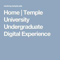 Home   Temple University Undergraduate Digital Experience