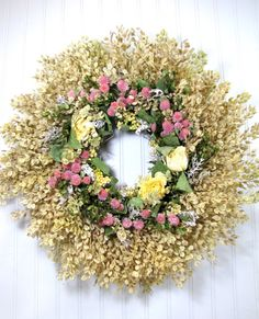 Dried Floral Wreath #dried_flowers  #wreaths