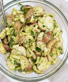 Herbed Potato Salad: While good any time of year, this potato salad is made without mayonnaise and boasts a handful of fresh parsley and lemon so it feels super light and springy. Welcome to your new party staple.