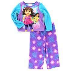CLEARANCE!  Dora and Friends Toddler Purple Fleece Pajamas (2T)