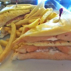 Clubhouse sandwich from Gerry's Grill.