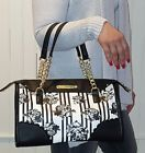 ☺❞ NWT Betsey Johnson Satchel #Black Rose Cream #Scallop Edge W matching  P... Be http://j.mp/2nEpMhA