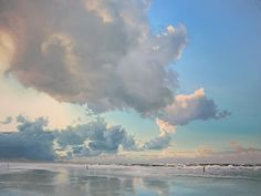 painting skies: Painting clouds, wood or canvas?