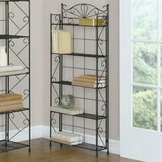 WIN IT! A Wrought Iron 5-Shelf Media Rack looks lovely in the living room and is great for organizing clutter!