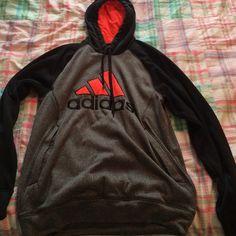 Adidas hoodie Grey black and orange adidas hoodie Adidas Tops Sweatshirts & Hoodies