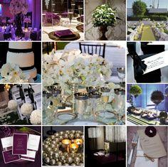 purple, white and black wedding inspiration
